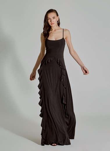9b1b3f6279a5c ... People By Fabrika Volan Detaylı Elbise Siyah